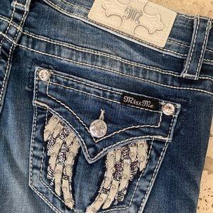 Nwt Miss Me Jeans Hailey Skinny Pants Sz 30 Wings